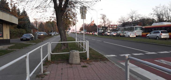 Protest przeciwko budowie ekranów na ul. Lwowskiej