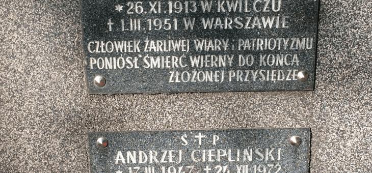 Święto Żołnierzy Wyklętych, rocznica śmierci Łukasza Cieplińskiego.