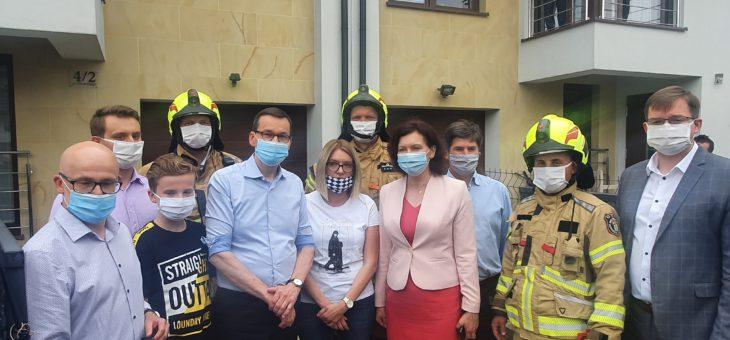 Premier odwiedził Słocinę po powodzi